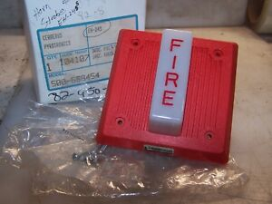 New Pyrotronics Cerberus Audible Signal Horn Strobe Fire Alarm Eh 24s 500 688454
