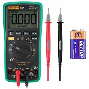 Digital Multimeter Auto ranging Ac Voltage Tester Alert Amp ohm volt Continuity