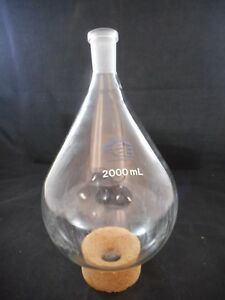 Quark Glass 2000ml 2l Evaporating Recovery Flask Round Bottom 24 40 Qf 9 17