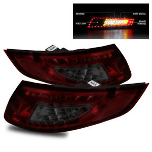 For 05 08 Porsche 997 991 Carrera Gt2 Gt3 Red Smoke Led Tail Lights Lamps Set