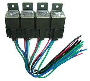 4 Pc Relay Panel With Sockets 40 60a Waterproof 12v Switching High Current New