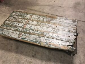 Vintage Warehouse Industrial Factory Dolly Cart Coffee Table Solid Well Made