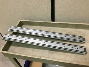Lot Of 2 Ball Bearing Drawer Slides Closed Length 30 Travel 30 Height 3