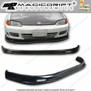 For 92 93 95 Honda Civic 2 door Mu Front Rear Bumper Lips Body Kit