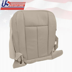 2007 2014 Ford Expedition Eddie Bauer Driver Bottom Leather Seat Cover Gray