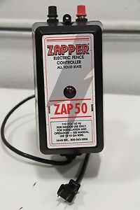 Zapper Zap50 110v Electric Livestock Cattle Horse Safety Controller Solid State