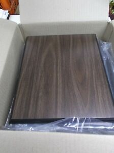 Lot Of 15 Trophy Parts Walnut Finish With Black Edge 10 X 12 Plaque Boards
