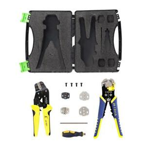 Wire Crimpers Engineering Ratcheting Terminal Crimping Pliers Kit W Case W8f4