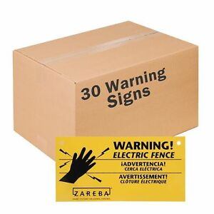 Zareba Ws3 Electric Fence Warning Signs 30 Pack