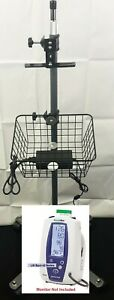 Welch Allyn Vital Signs Monitor Rolling Mobile Stand Spot Lxi Series 42ntb Mtb