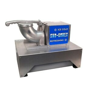 Shaved Ice Maker Commercial Snow Cone Machine Heavy Duty Stainless Steel Crusher