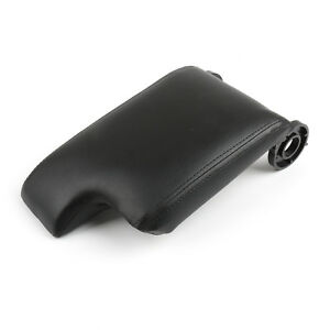 Leather Armrest Center Console Lid Cover For Bmw E46 3 Series 98 06 Black Ue