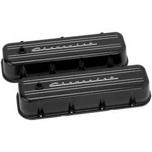Billet Specialties Blk96123 Black Logo Tall Valve Covers Fits Big Block Chevy