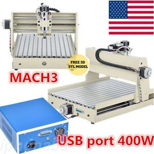 3axis Cnc3040 Router Engraver Engraving Milling Drill 3d Cutter Machine 400w Usb