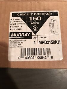 Murray Mpd2150kh 150 Amp 2 Pole Circuit Breaker New In Box
