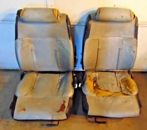1982 83 Datsun 280zx Turbo Seats tracks runners slides great For Rebuild T