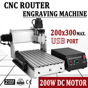 New 3 Axis 3020 3d Cutter Engraving Drilling Machine Usb Cnc Router Engraver