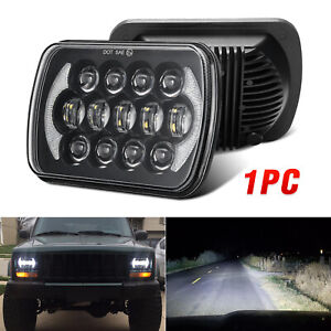 105w 5x7 7x6 Black Led Headlight H4 Hid Bulb For Jeep Cherokee Xj Yj Mj H6054