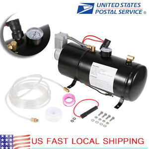150psi Dc 12v Truck Pickup On Board Air Horn Air Compressor Liter Tank Us