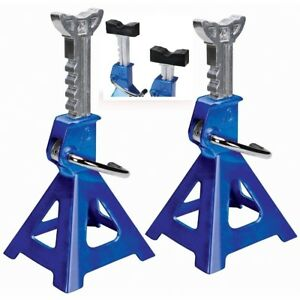 Aluminum Jack Stands 3 Ton 6 000 Lb Pair Heavy Duty Car Truck Auto