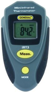 Thermometer Mini Infrared Large Lcd Display Meter Data Hold Lithium Ion Battery