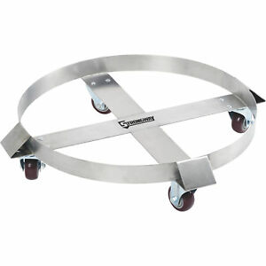 Strongway Stainless Steel Drum Dolly 55 gallon 1000 lb Capacity