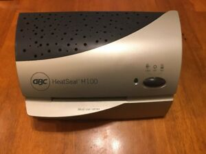 Genuine Gbc Heat Seal H100 Id Photo Hot Or Cold Laminator Used Tested Working