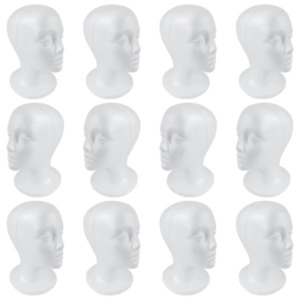Shany Cosmetics Styrofoam Model Heads hat Wig Foam Mannequin 12 Count