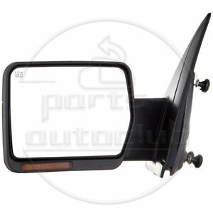 Left Power Heated Led Signal Light Towing Side Mirror Driver For 07 14 Ford F150