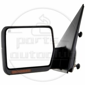 For 04 06 Ford F150 Driver Towing Power Heated Turn Signal Tow Left Side Mirror