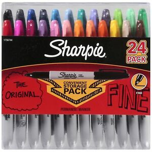 Sharpie Permanent Marker Fine Assorted Colors 24 Count