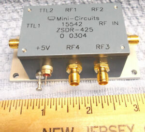 Mini Circuits Zsdr 425 Coaxial Switch Sp4t Pin Diode 2500mhz Sma Used Rf