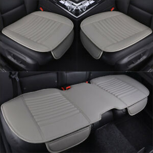 3d Pu Leather Universal Car Seat Cover Front Rear Seat Cover Breathable Bucket