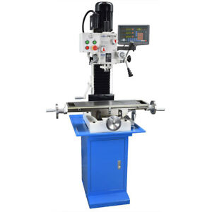 Pm 727 m Vertical Bench Top Milling Machine W stand 3 axis Dro Free Shipping