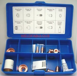 Miller 222941 Plasma Cutter Consumable Kit For Ice 55c Torch