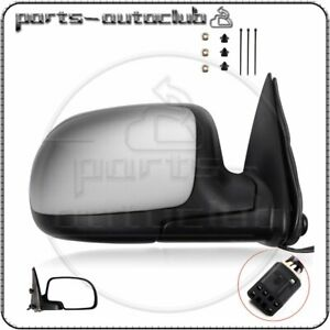 Passenger Chrome Power Heated Side View Mirror For 99 02 Silverado Sierra Right
