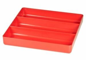 Ernst 5020 3 Compartment Toolbox Tray Organizer Abs Plastic Red