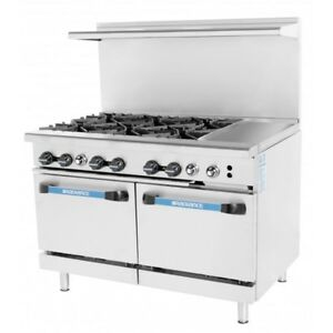 Turbo Air Targ 6b12g 48 inch 6 burner Gas Range With 12 inch Griddle Csa