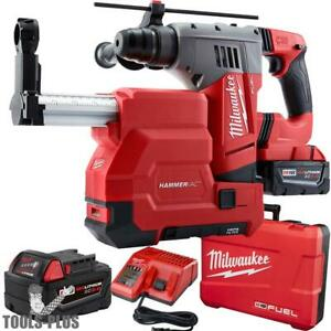 Milwaukee 2715 22de M18 Fuel 1 1 8 Sds Plus Rotary Hammer Dust Extractor New