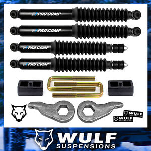 3 2 Leveling Lift Shocks Kit 2001 2010 Chevy Gmc 2500 3500 2wd 4wd 4x4 Hd