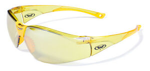12 Global Vision Cruisin Safety Glasses Yellow Mirror Lenses Ansi Z87