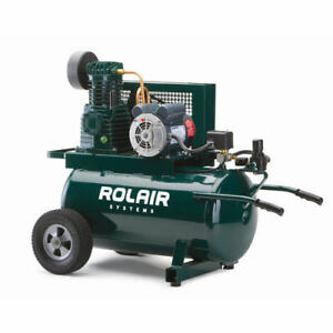 Rolair 20 Gallon 1 5 Hp Electric Portable Belt Drive Air Compressor 5520k17a New