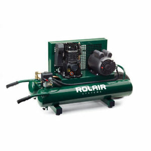 Rolair 9 Gallon 1 5 Hp Electric Portable Belt Drive Air Compressor 5715mk103 New