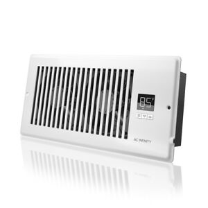 Airtap T4 Quiet Register Booster Fan Heating Cooling 4 X 10 Registers White
