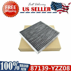 Black Fiber Cabin Air Filter For Lexus Gs450h Gs430 Gs350 Gs300 Es350 Es300h