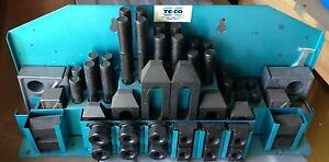 Te co 52 Piece Machinist Clap Kit 5 8 11 Stud Size 3 4 Tslot New Never Used