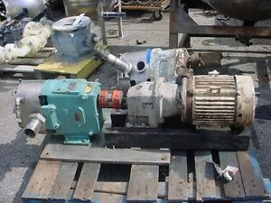 2 5 Waukesha Stainless Steel Displacement Pump Model 060 Jacketed Housing