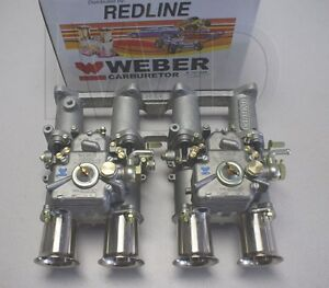 Toyota 2tc Dual 45 Dcoe Weber Side Draft Kit New W Manifold Linkage