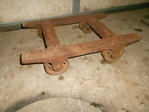 Antique Fairbanks Malleable Iron Dolly Cart No 1 L1191 With Cast Iron Wheels
