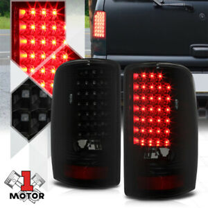 Black smoked full Led Tail Light Brake Lamp For 00 06 Gmc Yukon tahoe suburban